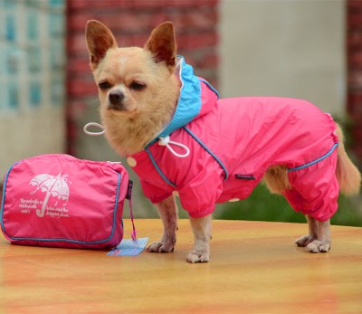 1ce12fd010f Small Pet Dog Hoody Jacket Rain Coat Waterproof Clothes Slicker Jumpsuit  Apparel dog clothes for small