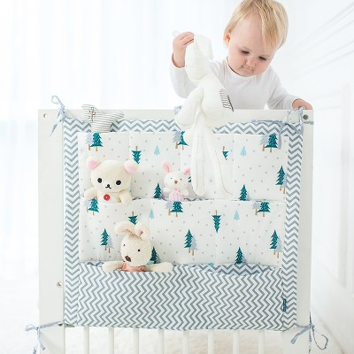 84e0b55a8f4 Baby Hanging Storage Bag Organizer For Baby Cots Crib Organizer Baby Bed  Accessories Bed Pocket Newborn