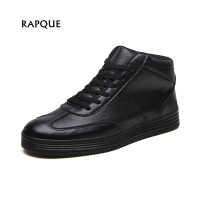 8a6d55ad8f2c Mens shoes leather for men sneakers mid premium luxury Ankle Boots Retro  autumn winter Fashion Footwear