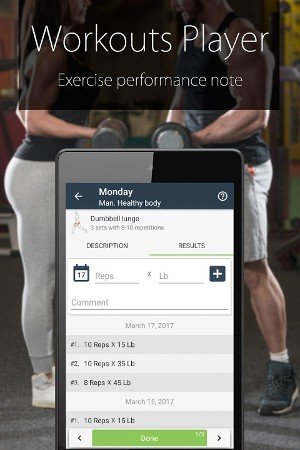Android Fitness Coach FitProSport Screen 2