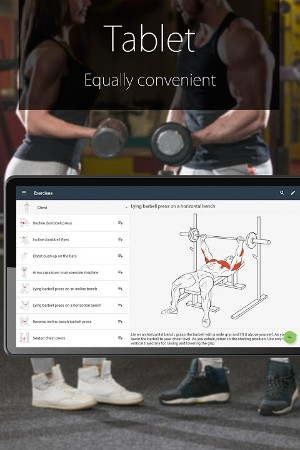 Android Fitness Coach FitProSport Screen 1