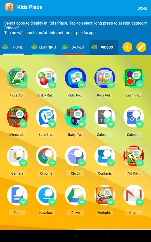 Android Kids Place - Parental Control Screen 6