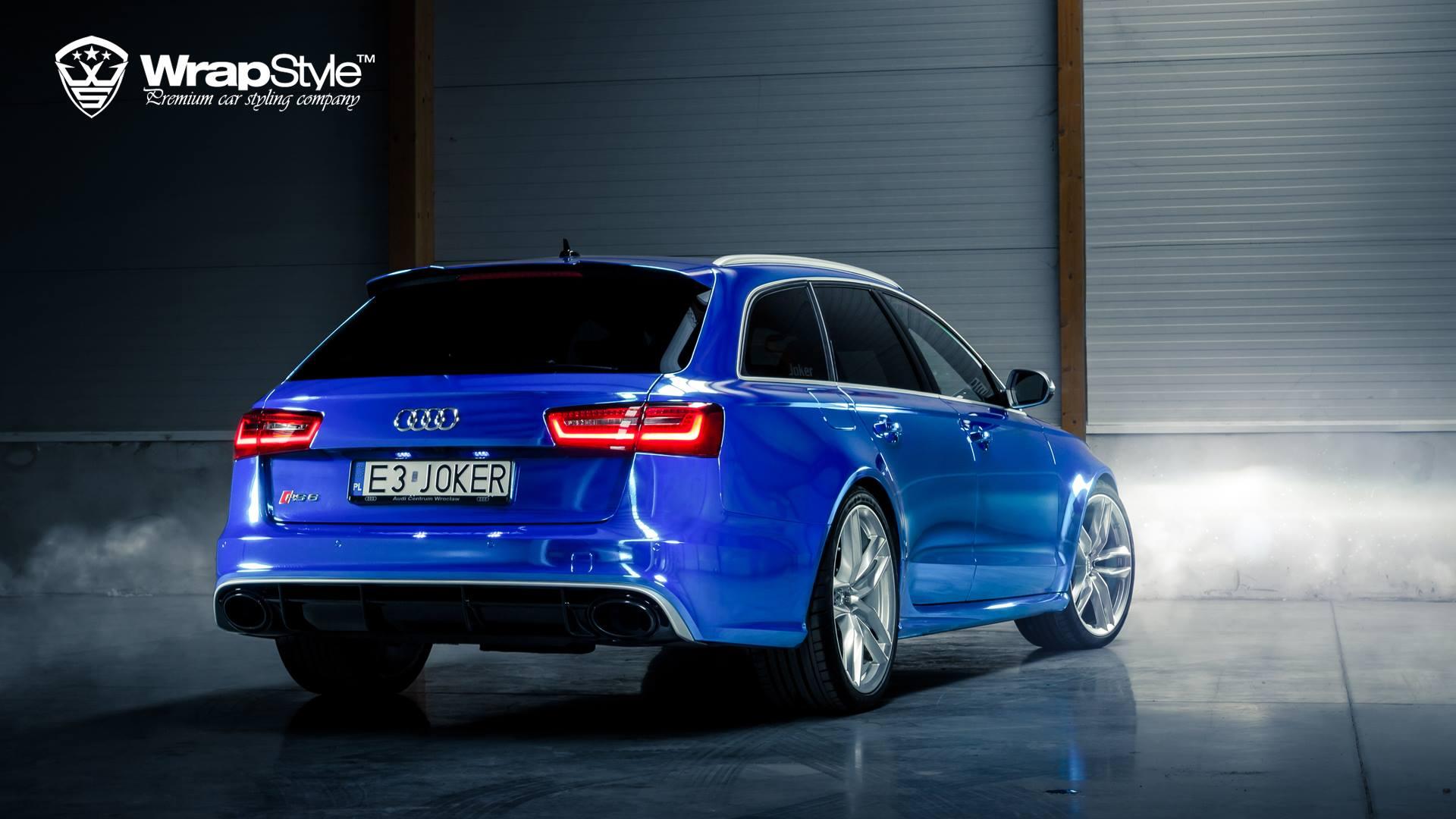 Audi Rs6 Joker Wrapped In Blue Chrome Autoevolution