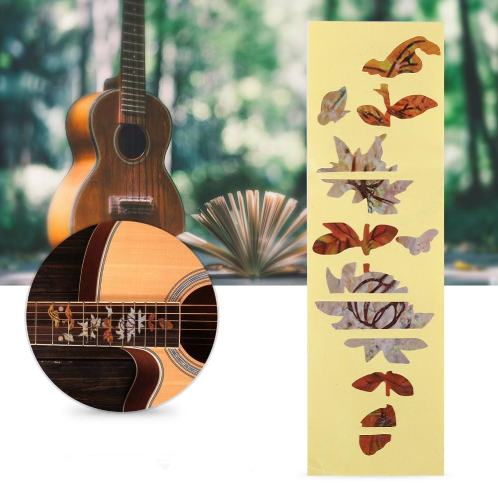 Butterfly pattern guitar inlay stickers markers for acoustic electric guitar fretboard decor guitar fretboard stickers fretboard