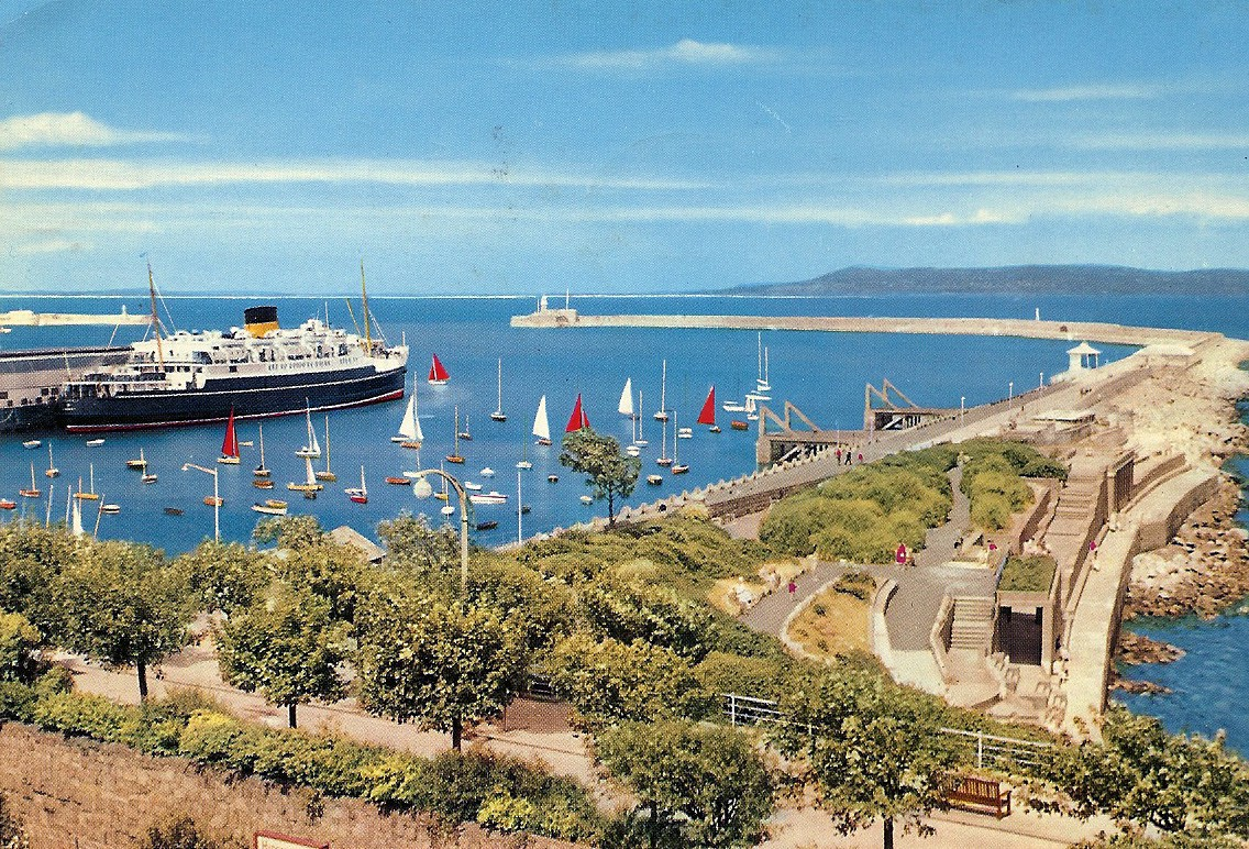This Is A John Hinde Photo Of The Ferry And Harbor At Dun Laoghaire